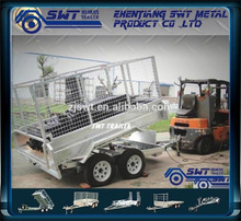 2 axle Hydraulic tipping tipper trailers for 8x5