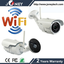 1.0 Megapixels Built-in Pan Tilt wireless IP Bullet camera with wifi