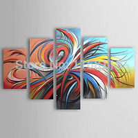 5 PCS abstract painting decorative art set modern wall art hand painted Canvas Oil Painting