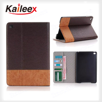 Accept Custom Design Case For Ipad mini 4 Wallet Leather Case