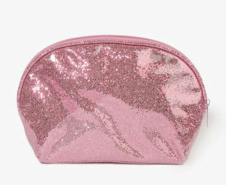 Patent Glittered Cosmetic Bag/coin purse