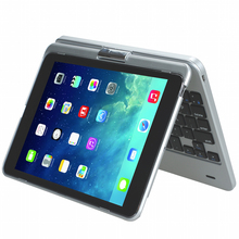 Bluetooth Keyboard for iPad mini 3/2/1 Folio Case Cover with Built-In Stand Groove with 130 Degree Swivel Rotating
