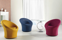 Rotatable fabric cover colorful swivel living room chairs