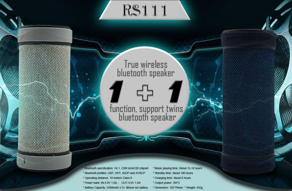 CE ROHS Portable Wireless waterproof bluetooth headphone speakers,amazing products from china RS111