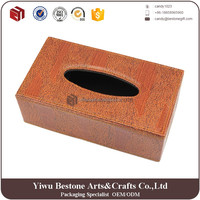 Top grade customized decorative leather tissue box, fashionable tissue cover case