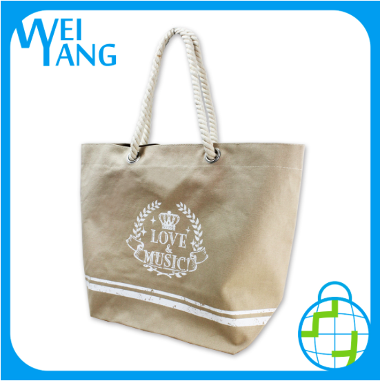 Heavy duty canvas shopping bag cotton canvas shopping tote bag