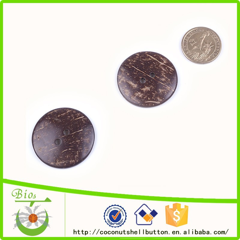 Enviroment protection natural coconut shell button for DIY binder <strong>clip</strong>