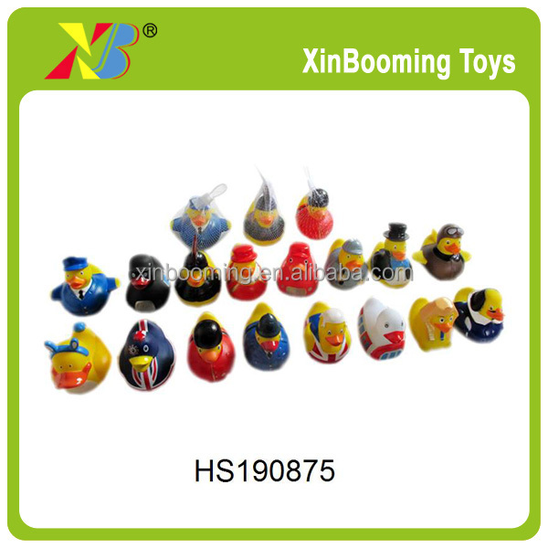 "4"" promotional colorful rubber duck in 16 roles"