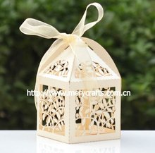 2013 hot sale! laser cut paper craft box for food packaging with ribbon MOQ 600 pcs with fast shipment from Mery Crafts