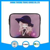Professional cosmetic zip bag with beautiful girls printing