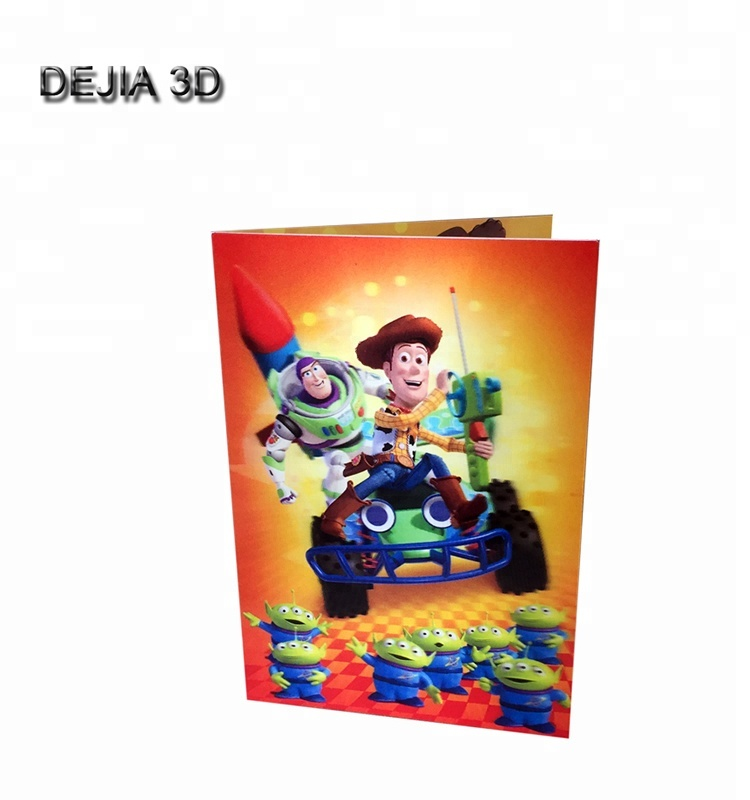 Customized birthday 3d lenticular greeting card for kids gifts