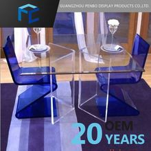 Small Order Accept Free Samples Clear Acrylic Dining Table Base