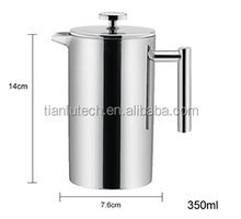 Double Wall Stainless Steel Tea Maker/ Coffee plunger / French press