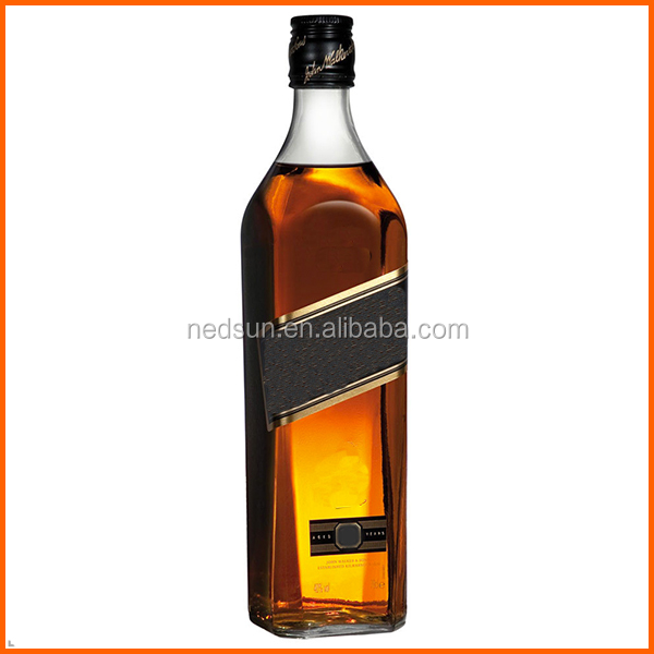 Hot sales customized glass savoy whisky bottles clear