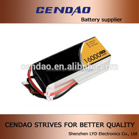 CENDAO li-polymer battery pack 16000mah rc lipo battery high rate 15C 6 cells 6s1p li po battery for RC toys