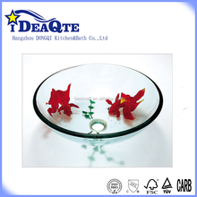 Tempered wash basin sink parts from China