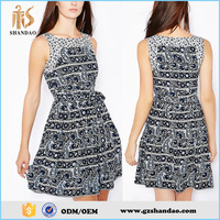 High quality wholesale China factory trendy style summer sleeveless western girl dresses