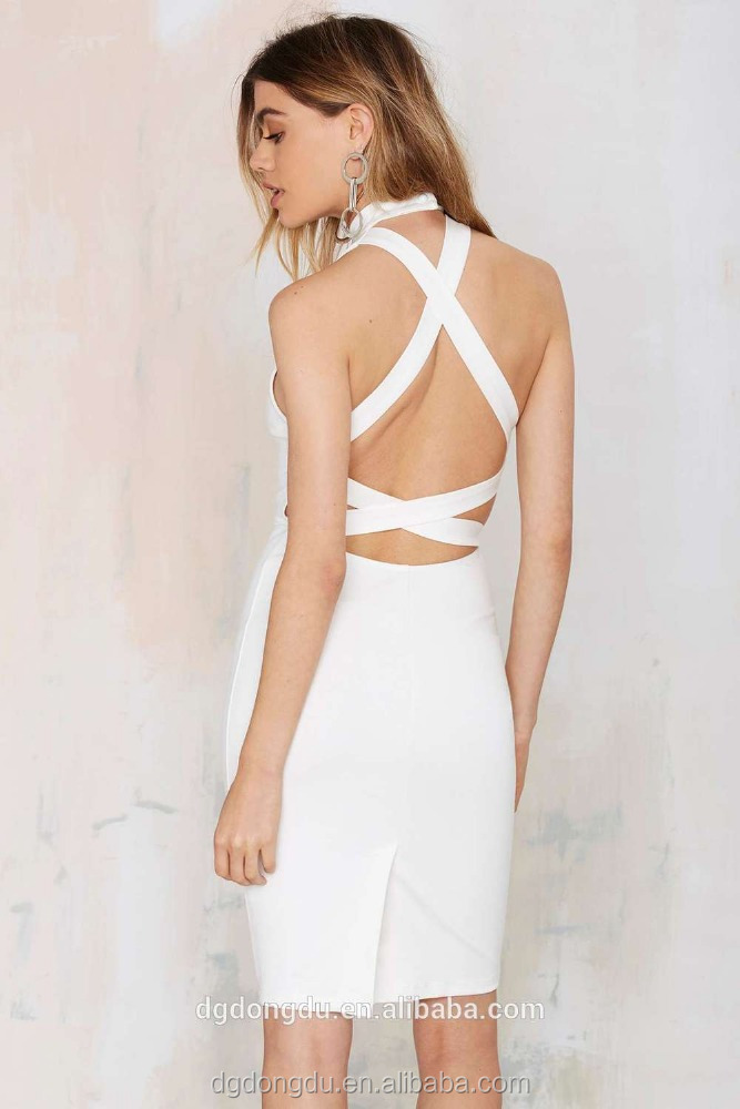 2016 hot sell a Best Sell Back Crossing Strap Bodycon Bandage Dress