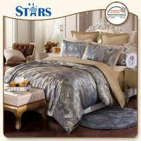 GS-JAC-10 Classic shinning yarns jacquard usa style quilt cover set