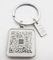 creative idea promotional QR code custom metal keychain