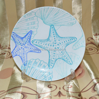 christmas day gift ceramic cake plate decorative plate