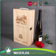 French Style Packaging Wine Glass Gift Box Wooden Design