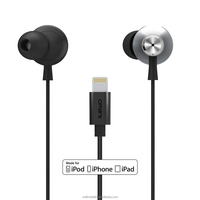 Omars MFi Certified 8 pin lighting in ear headphone with mic for iPhone with ear buds