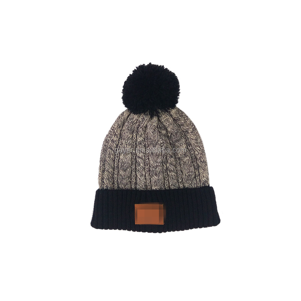 Factory Wholesale Price OEM Customized Sports Fashion Acrylic Knitted Beanie With Pompom