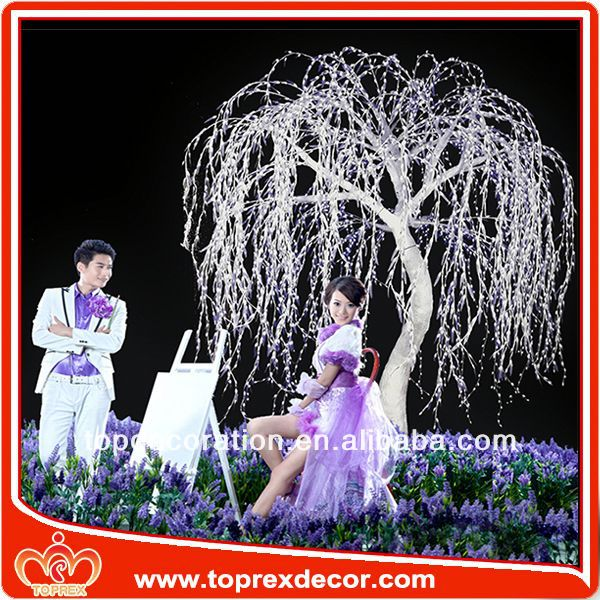 TOP-wil-001 led willow tree wedding stair decoration