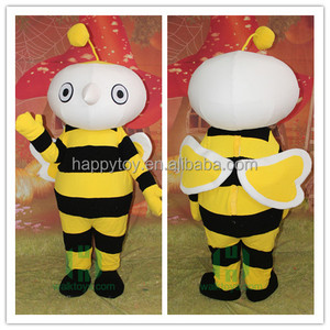 Funny Customized Design Manufacturer Animal Bee Mascot Costume For Sale
