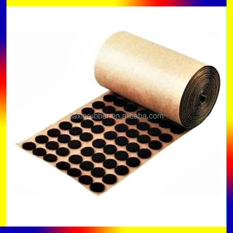 "1,000 Brown Adhesive Backed Felt Pads Dots 1/2"" Button Protection"