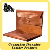 High Quality Cheap Custom Document Bag Leather Cover File Certificate Holder
