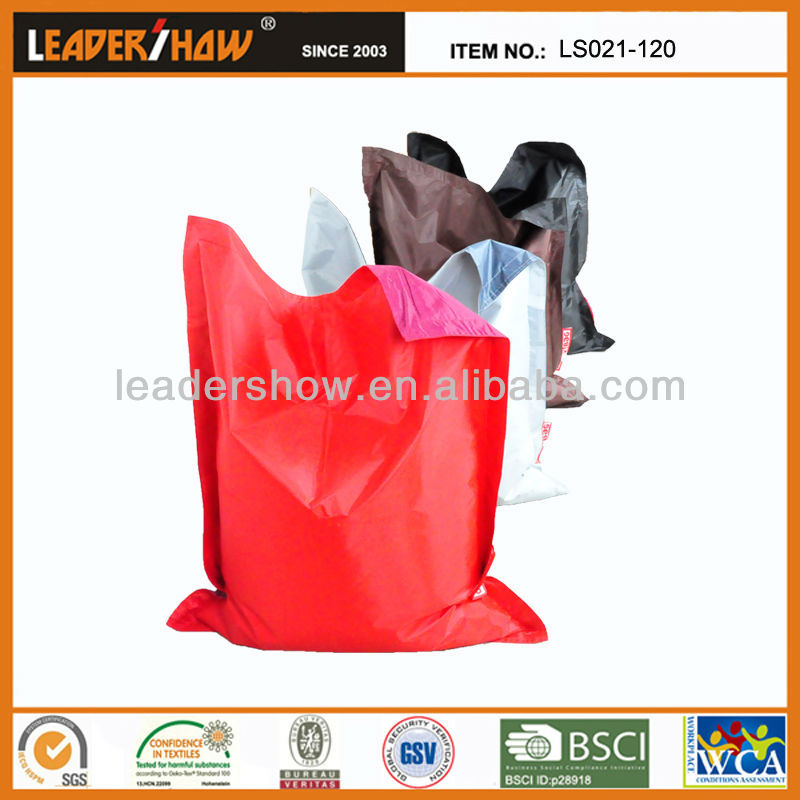 Solid color square shape bean bag filled with micro beads