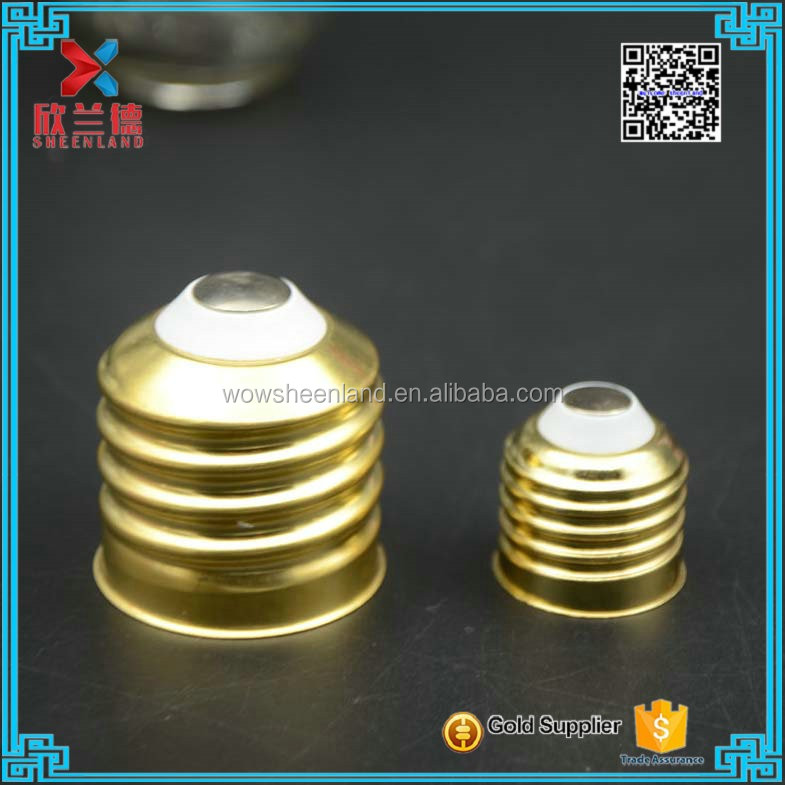 glass lamp bulb golden color twist off screw lid factory cheap price