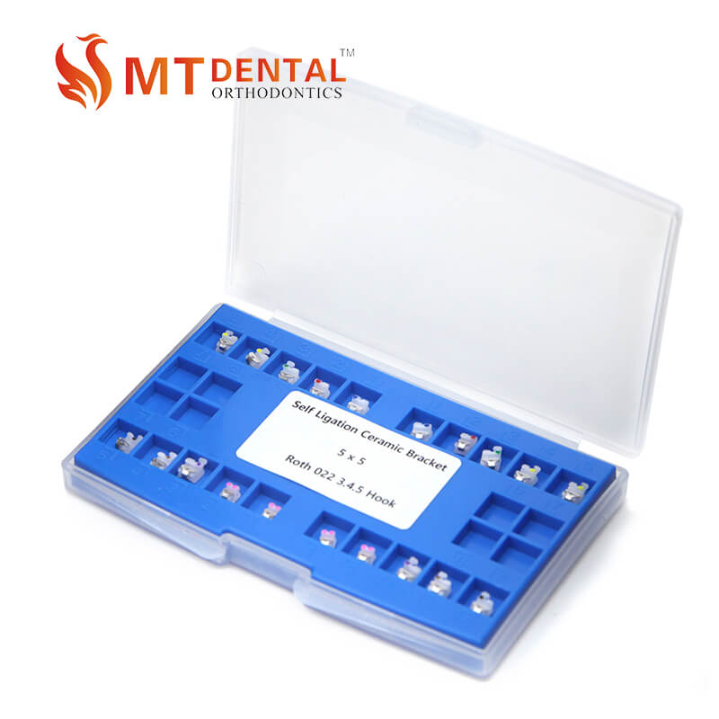 China dental orthodontics self-ligating ceramic bracket