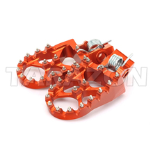 CNC Machining Aluminum billet adjustable foot pegs for KTM motocross bikes