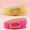 High quality leather belts wholesale spain belt for office lady