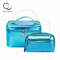 fashion glowing cosmetic bag lastest design Pu cosmetic case women make up bag cosmetic storage bag