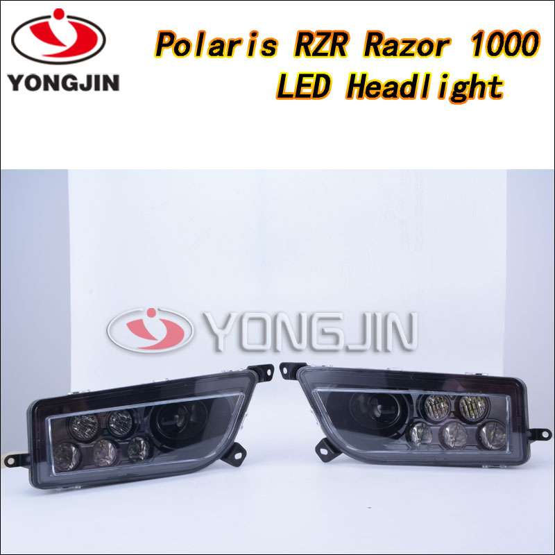 polaris 4x4 parts good quality led headlight for polaris rzr atv