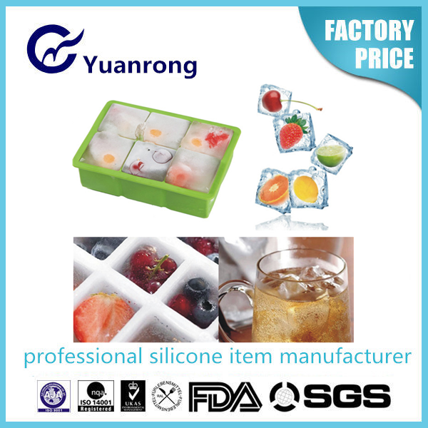 Non Stick Eco-friendly Silicon Tasty Jelly and Icecream Maker Fruits Ice Cube Tray