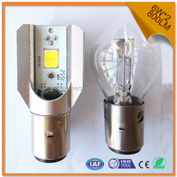 Ba20d led motorcycle headlight bulb supper low power