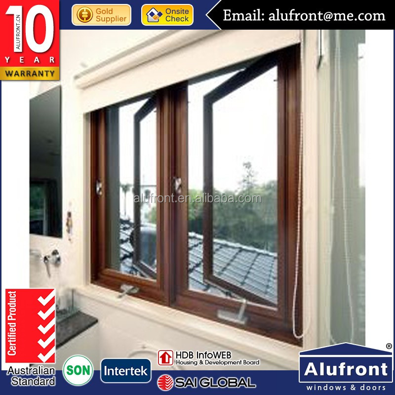 fitting aluminum American stype casement window with hand crank