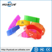Factory Price Custom logo wristband usb stick wearable usb flash drive 1gb to 64gb pendrive
