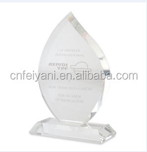 China Quality Blank Shaped Custom Crystal Trophy