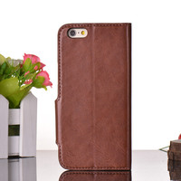 for iphone 6 case wallet with packaging, leather case for iphone6