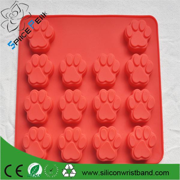 100% Fda Dog Bone Dog Footprint Shape Silicone Baking Mold