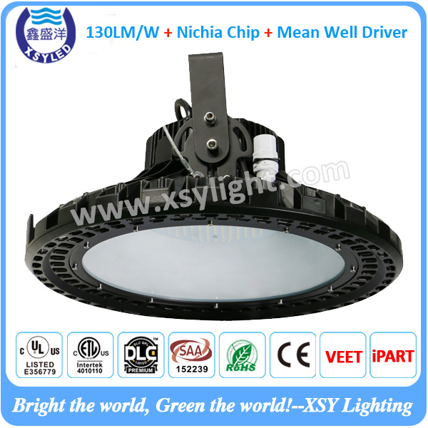 150W 120W 100W led high bay light 130lm/w Round shape different certificate