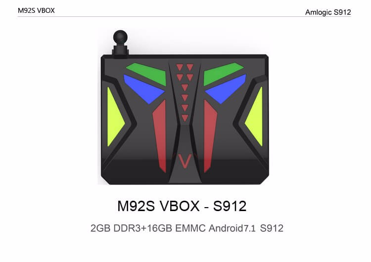 M92S VBOX Android 7.1.1 4K HDR TV BOX Amlogic S912 2G/16G 802.11AC WIFI 1000M LAN