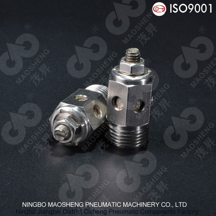 Stable performance air oil filter SS-PDK Type Stainless Steel Exhaust Muffling Throttle Valve pnematic muffler