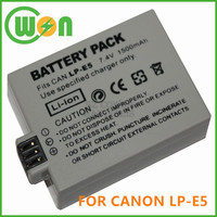 LP-E5 LPE5 Camera Battery for Canon EOS 1000D 450D 500D Digital Rebel T1i XSXSi Kiss F X2 X3